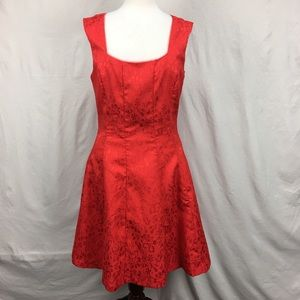 BCBG Paris Cocktail Floral Lace Sheath Red Dress